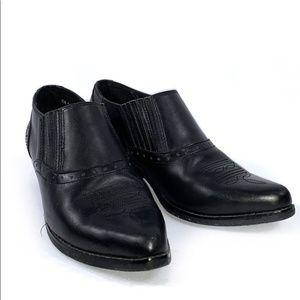 DINGO WOMEN'S BOOT SLIP-ON BLACK LEATHER SHOE 8.5